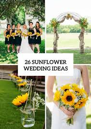 sunflower wedding decorations wedding decorations archives weddingomania