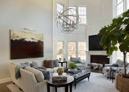 Sphere Interiors 2 Story Living Room Transitional Living Room Liz Caan Interiors