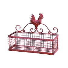 amazon com rooster single wall rack kitchen u0026 dining