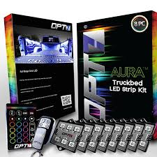 light switch color options amazon com opt7 aura 8pc truck bed led lighting kit sound