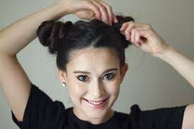 hair buns how to do the easy space buns hairstyle every