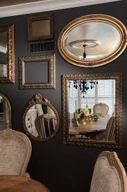 mirrors in dining room photos hgtv mirror gallery wall in traditional gray dining room