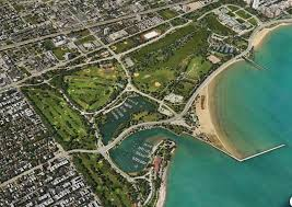 Birds Eye View Map Aerial View Of Jackson Park Via Apple Maps Chicago Architecture