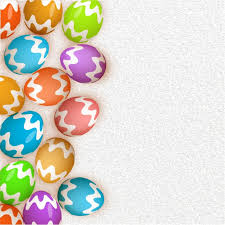 decorative eggs easter background with colorful decorative eggs vector premium