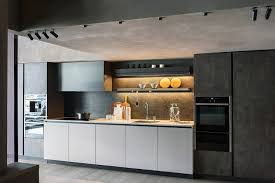 Kitchen Wall Units Maxima 2 2 Base Units Melamine Grigio Fumo Tall Units Ossido
