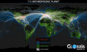 Flight Routes Map by The Antropogenic Planet A Very Cool Map Of The World Composed Of