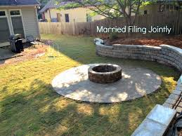 Diy Fire Pit Patio by Married Filing Jointly Mfj Diy Firepit Patio And Backyard