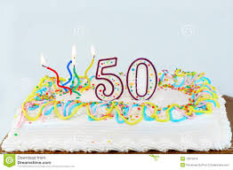 50th birthday cake isolated stock photo image 51484393
