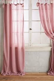 Top Curtains Inspiration Cotton Tie Top Curtain Pink Curtains Window And Room