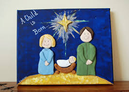 that artist woman nativity canvas and giveaway winner