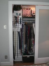 bedroom small elfa closet with hanging clothes