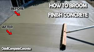 Patio Broom by How To Broom Finish A Concrete Slab Youtube