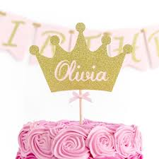 name cake toppers princess crown cake topper custom name colours inspired by alma