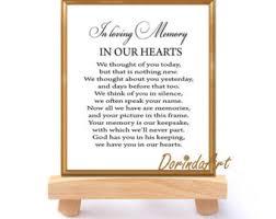 wedding keepsake quotes memorial table etsy