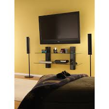 Tv Corner Wall Mount With Shelf Fancy Wall Mounted Shelves For Components 28 On Tv Wall Mounts