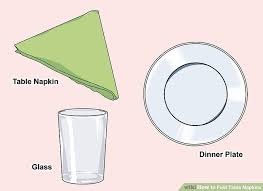 how to fold table napkins 4 ways to fold table napkins wikihow