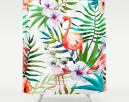 flamingo shower etsy
