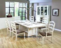 Distressed Dining Room Table Antique White Dining Room Furniture Retro Dining Room Set Large