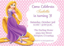 tangled rapunzel invitation disney princess kid u0027s birthday party