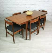Teak Mid Century Modern Furniture by Vintage Mid Century Modern Set Dining Room Table Pinterest