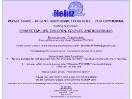 Seeking Cast List Urgent Still Seeking The Following 247 Cast Heinz