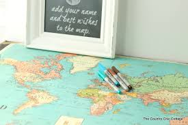 guest sign in books map wedding guest book the country chic cottage