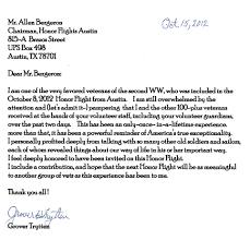 Thank You Letter Veterans honor flight letter exles veterans elemental see nor thank you