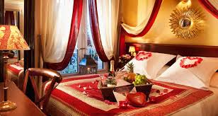 attractive wedding bedroom decoration with and candles bed