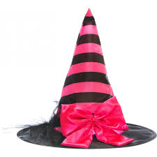 pink witch costume striped satin witch hat with bow pink u0026 black 25286acao