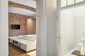 brick wall apartment modern apartment of a football player celebrates the beauty of