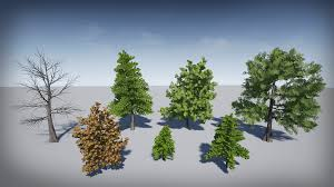 realistic trees 1 by defuse studios in props ue4 marketplace