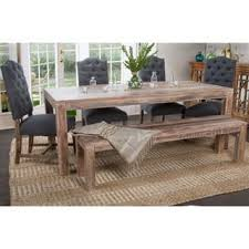 Farm Tables With Benches Farmhouse Dining Room U0026 Kitchen Tables Shop The Best Deals For