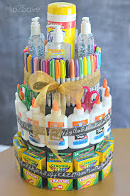 cake supplies school supply cake back to school gift idea school supplies