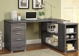 Gray Computer Desk Monarch Computer Desk Grey Corner With Storage Walmart