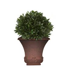 Tierra Verde Planter by Allen Roth 16 25 In X 23 5 In Light Rust Fiberglass Planter