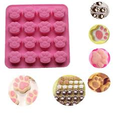 Aliexpress Com Buy Cat Paw Print Silicone Cookie Cake Candy