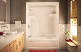 Whirlpool Bath Shower Combination 4 Piece Tub Shower Unit Tubshower Kdts2954 Kdts 2954 Alcove Or
