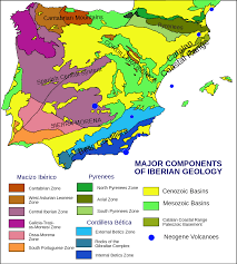 Map Of Spain And Morocco by Geology Of The Iberian Peninsula Wikipedia