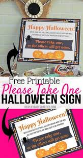 trick or treat candy free printable sign fall pinterest free