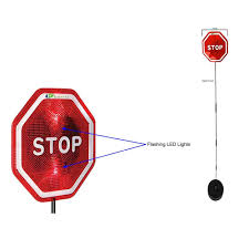 stop sign with led lights flashing led parking stop sign for garage parking assistant pack of