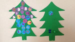 diy christmas tree advent calendar my daughter and i took green
