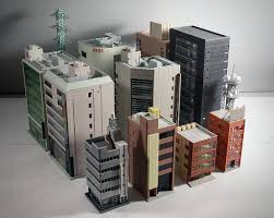 create a building creating stomping grounds for x plus with n scale buildings