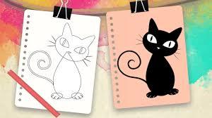 imágenes de gatos fáciles para dibujar cómo dibujar un gato para niños dibujos fáciles de animales