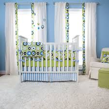 bedroom design colorful crib blankets with circle pattern