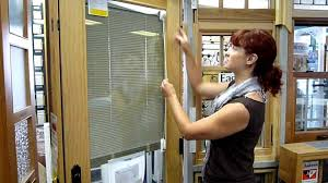 Patio French Doors With Built In Blinds by Eagle Between Glass Blinds For Door Window Youtube