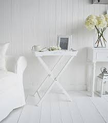 White Side Tables For Living Room A White Butler Tray Bedside Table Bedroom Furniture мебель
