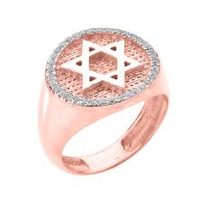 pink star diamond ring rose gold jewish star of david men u0027s diamond ring