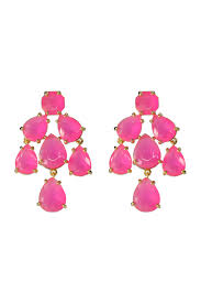 pink earrings hot pink kate chandelier earrings by kate spade new york