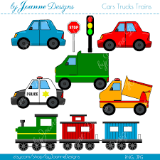 car toy clipart cars trucks trains boys colorful digital clip art commercial