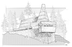 falling water house plan at frank lloyd wright coloring pages